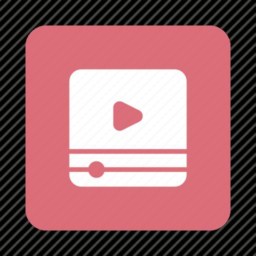 media, movies, multimedia, play, player, ui, video icon