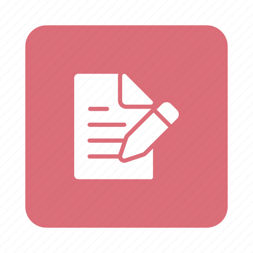 document, edit, file, format, paper, pencil, write icon