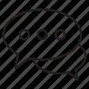 bubble, bubblechat, chat, conversation, message, speech, talk icon