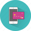 buy, card, commerce, ecommerce, mobile, payment, transaction icon