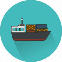 boat, cargo, delivery, ship, shipment, shipping, vessel icon