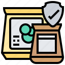 approved, authentic, brand, package, product icon