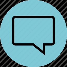 bubble, chat, conversation, line, sms, talk icon