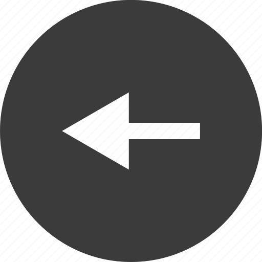 arrow, back, backwards, left, poin, pointer icon