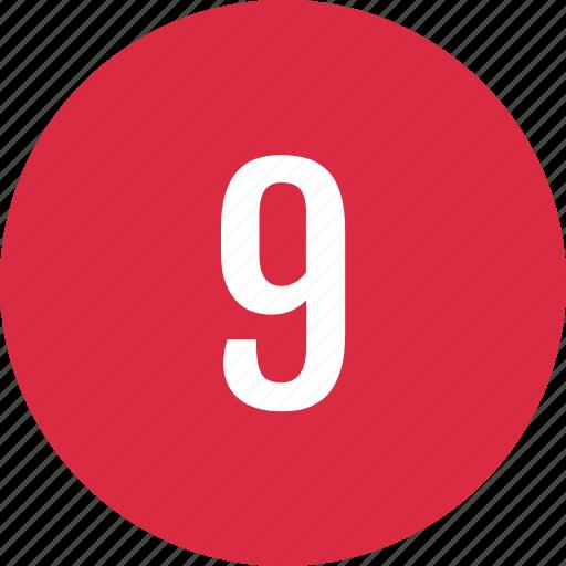 chart, circle, list, nine icon