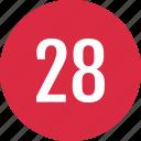 count, eight, number, numero, track, twenty icon