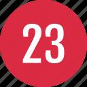 count, number, numero, three, track, twenty icon