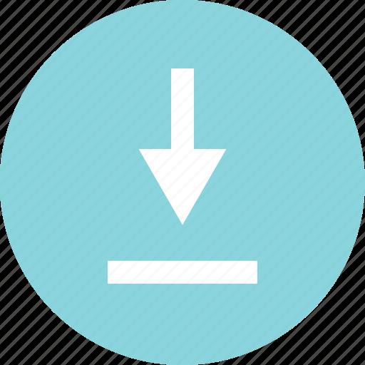 data, document, down, download, file icon