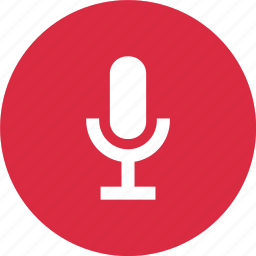 audio, circle, mic, microphone, sound icon
