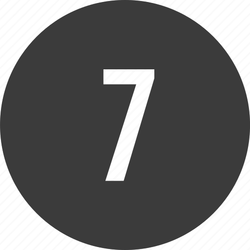 chart, circle, list, number, seven icon