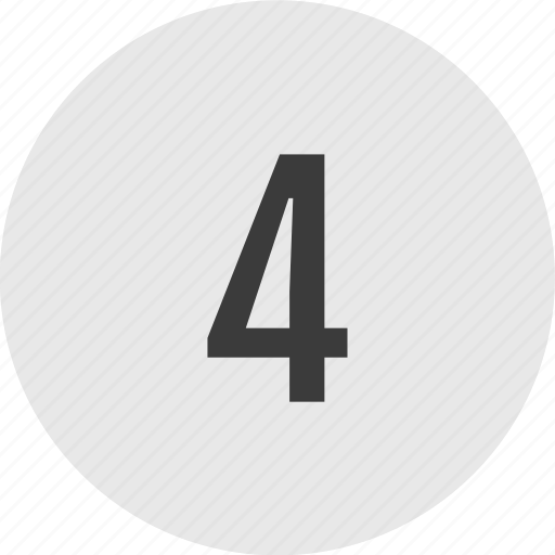 chart, circle, four, number, top, track icon