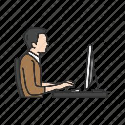 chat, desktop, message, online, online chat icon