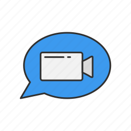 conversation, message, video, video call icon