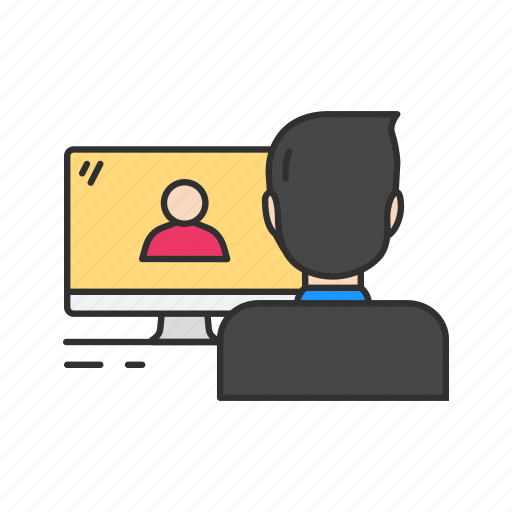 desktop, online chat, skype, video, video call icon