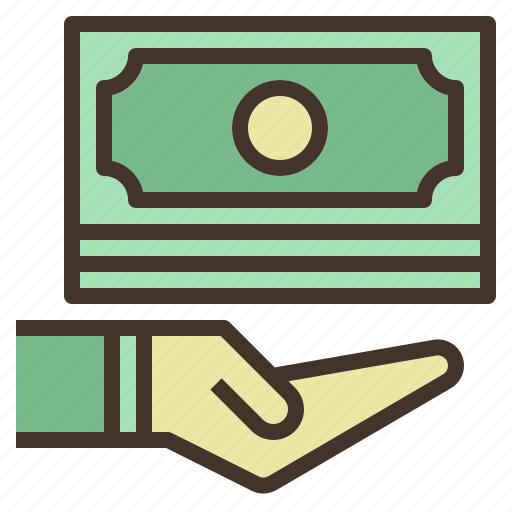 cash, donation, money, offer, receive, saving, value icon