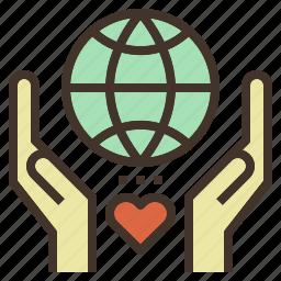 charity, donation, global, love, world icon