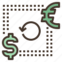currency, exchange, finance, money, transfer icon
