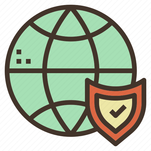 check, global, online, security icon