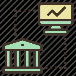 banking, computer, internet, online, service icon