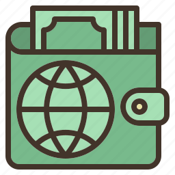 business, international, online, payment, wallet icon