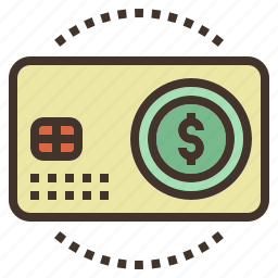card, cash, money, pass, prepaid icon
