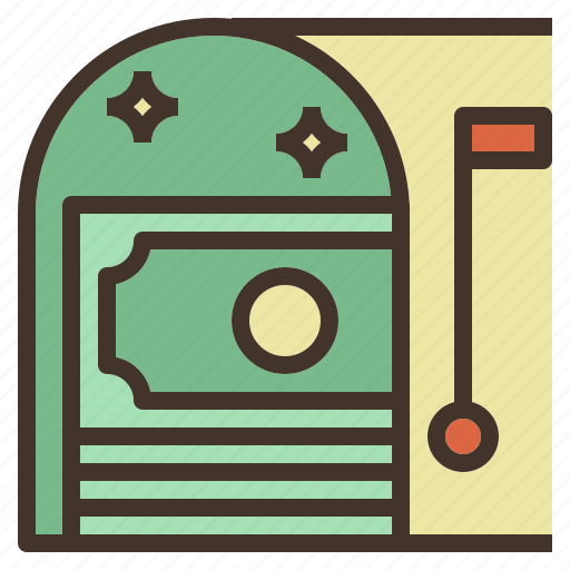 box, mail, money, receive, transfer icon