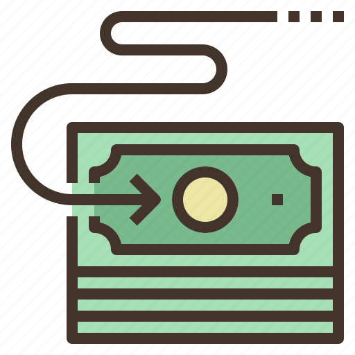 bill, money, payment, transfer icon