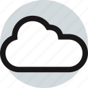 cloud, communication, networking, online, weather, web icon