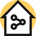 communication, home, networking, online, share, web icon