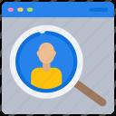 avatar, browser, online, person, recruitment, user, window