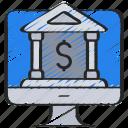 bank, banking, computer, dolla, imac, money, online icon