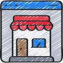browser, online, shop, store, website, window