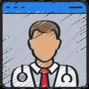 avatar, browser, doctor, health, online, user, website