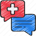 health, message, messaging, online, service, support icon