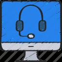 computer, headset, help, imac, online, support