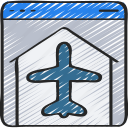 agent, airplane, browser, online, plane, travel, website icon