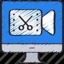 computer, cut, edit, editing, footage, online, video