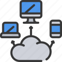 cloud, computer, hosting, mobile, online, tablet, web icon