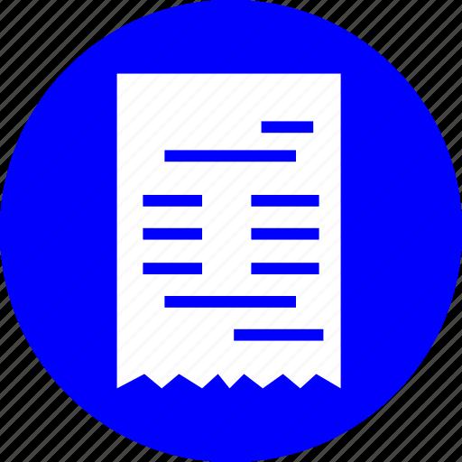 apps, bill, paper, shop, ui icon