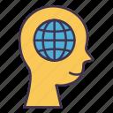 mind, world, idea, global icon