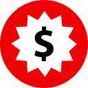 dollar, ecommerce, online, shop, shopping, tag icon