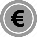 coin, ecommerce, euro, online, shop, shopping icon