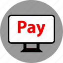 ecommerce, online, pay, pc, shop, shopping icon