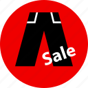 ecommerce, online, pant, sale, shop, shopping icon