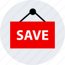 ecommerce, online, save, shop, shopping icon