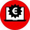 ecommerce, euro, online, shop, shopping, tag icon