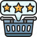 rating, star, review, customer, satisfaction, feedback, shopping