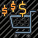 shopping, trolley, cart, money, pay, spending