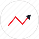 analytics, analyze, arrow, data, info, infographic, information icon