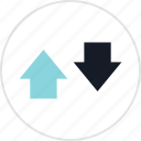 arrow, data, down, info, infographic, information, up icon